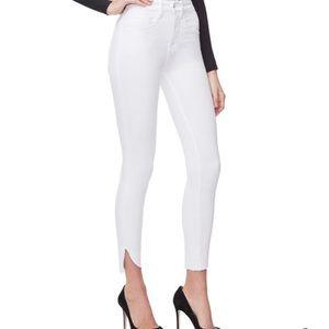 NWT Good American Good Legs Crop Cascade Hem Jeans